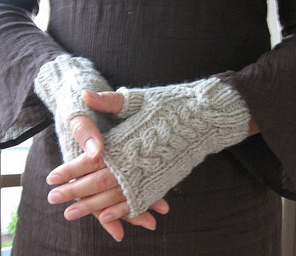 knitting mittens