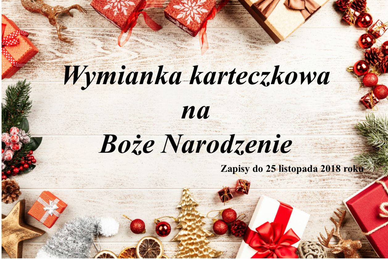 Wymianka karteczkowa na Boże Narodzenie