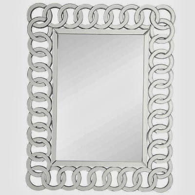 OVERSTOCK NIHOA SILVER INTERLOCKING RINGS MIRROR