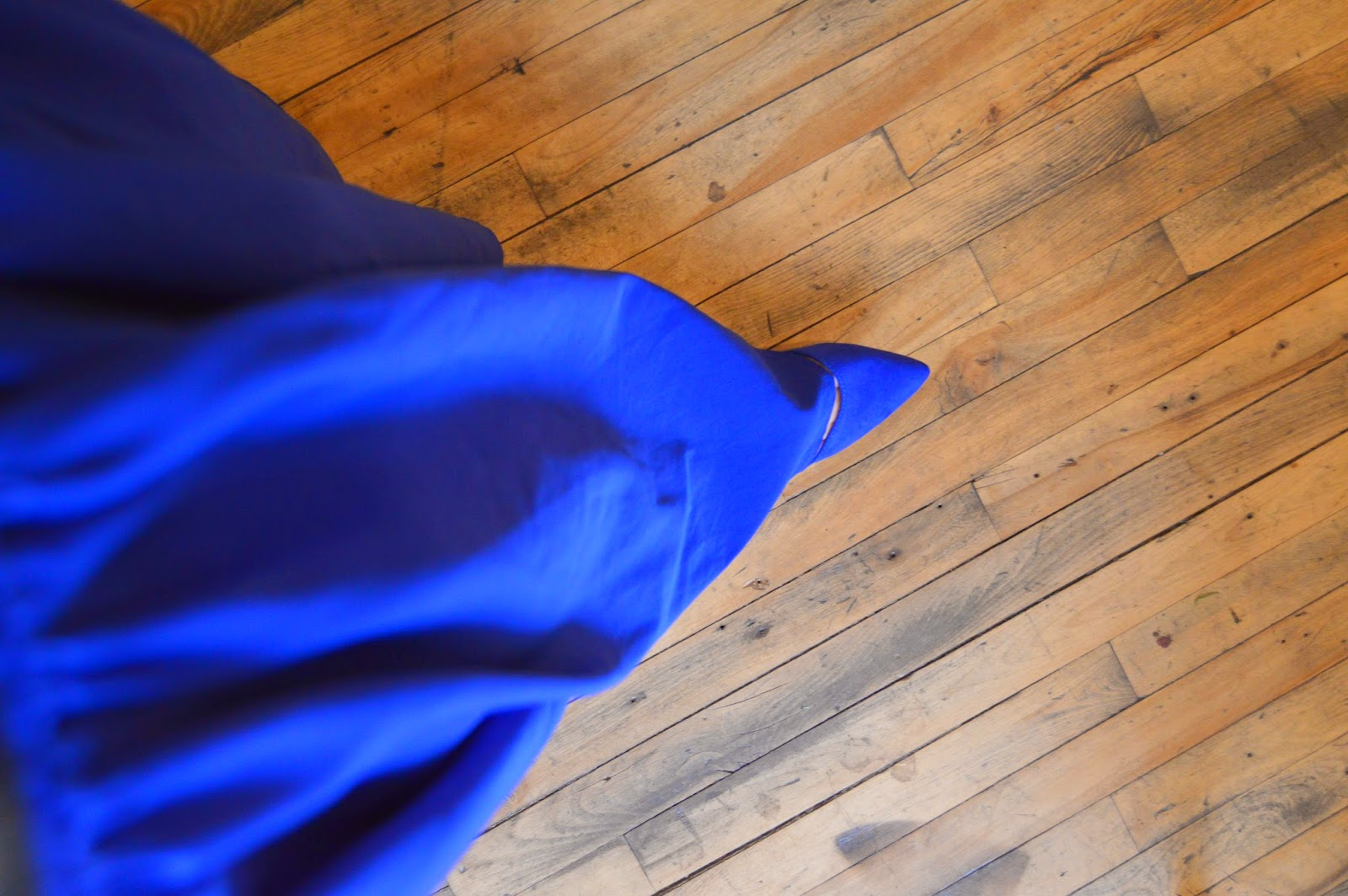 Royal blue maxi skirt with matching shoes
