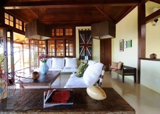 Decora o r stica salas de estar for Sala de estar rustica y moderna