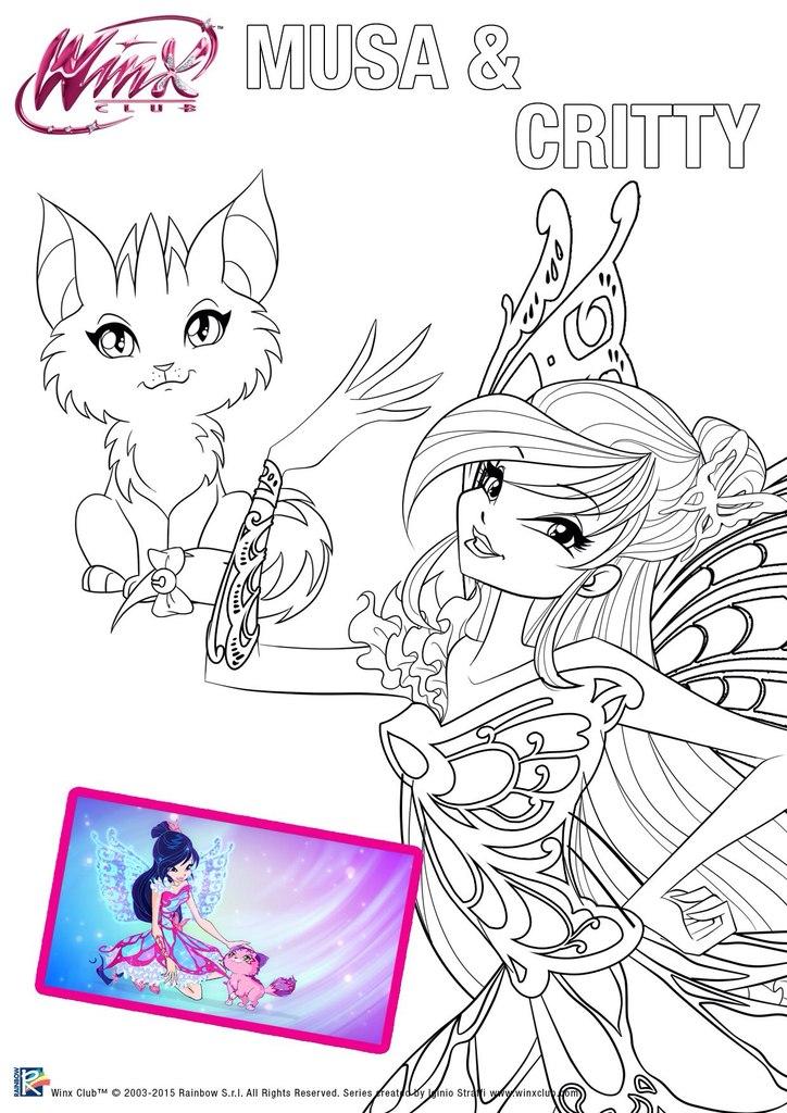 imagens para colorir das winx - Desenhos de Winx Club para colorir jogos de pintar e