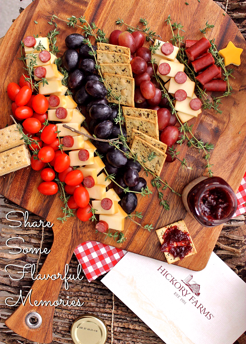 Holiday Fruit and Cheese Platter- Hickory Farms is a tradition that marks the holiday season. Around since 1951, the fine foods and gifts crafted by Hickory Farms help forge traditions and bring people together. #HickoryTradition (ad)