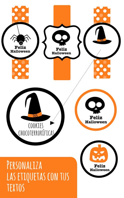 Etiquetas Halloween imprimir