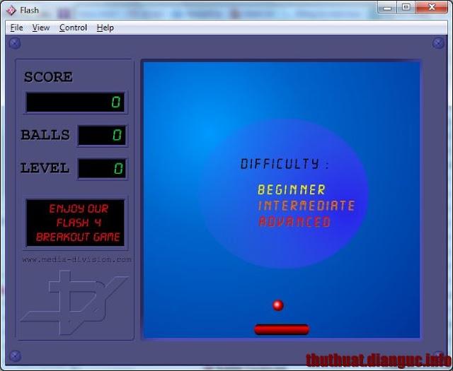 Download game Breakout Flash - Trò chơi đỡ bóng phá gạch