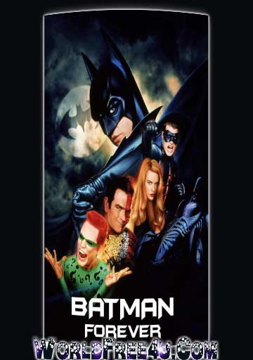 Poster Of Batman Forever (1995) In Hindi English Dual Audio 300MB Compressed Small Size Pc Movie Free Download Only At worldfree4u.com