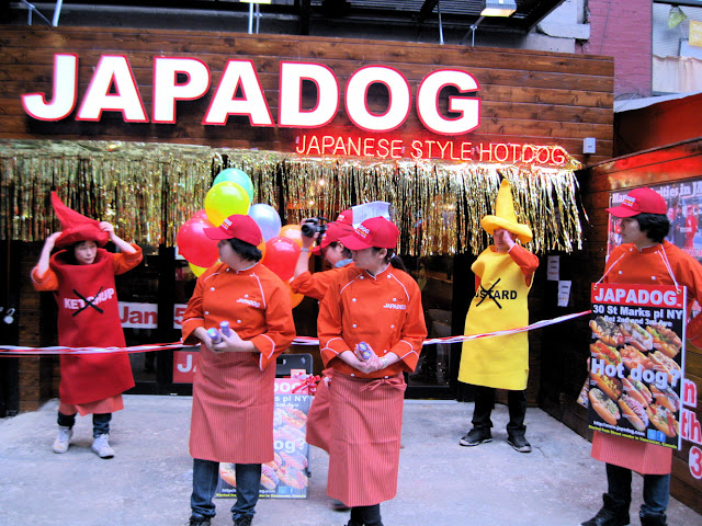The grand opening of the new in New York Japadog restraurant