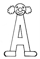 alfabeto palhaço letra a