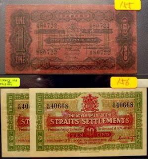 Straits Settlements 10 Cents 14-10-1919