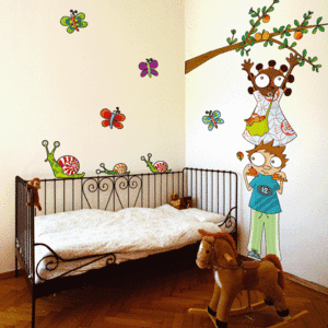 Ideas para decorar paredes for Vinilos dormitorios infantiles