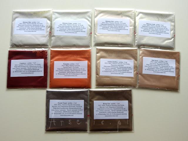 Nowe pigmenty w sklepie Kolorowka.com - grudzień 2015