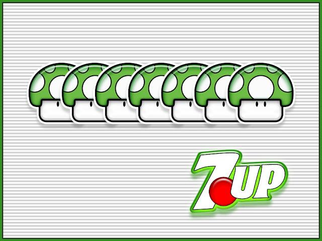 1up mario mushroom 7up soda pop soft drink green