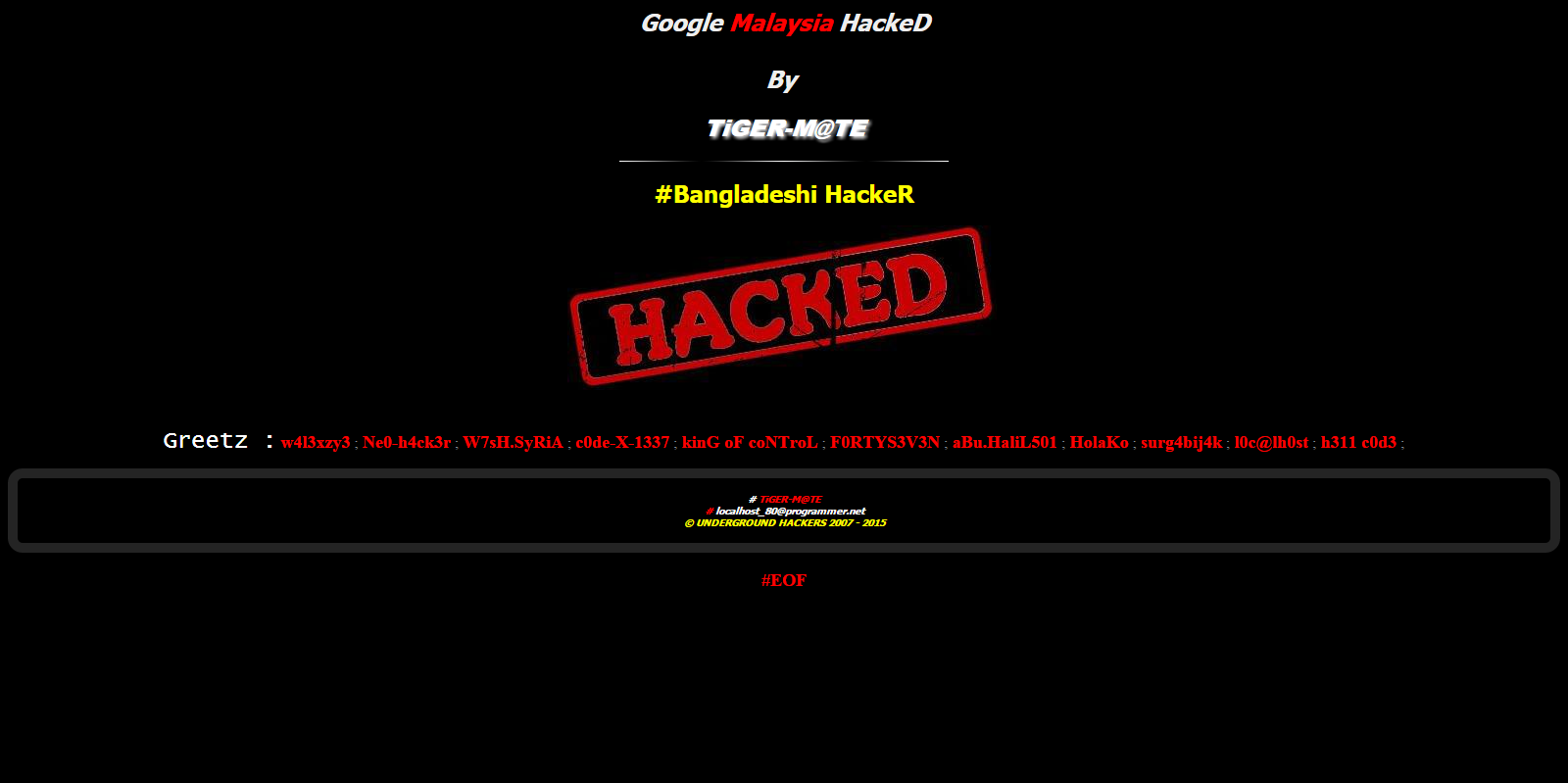 Google Malaysia Kena Hack Oleh Hacker Bangladesh