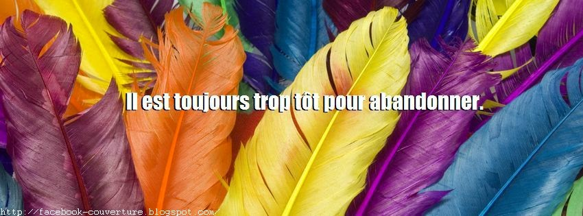 Une photo pour couverture facebook citation positive