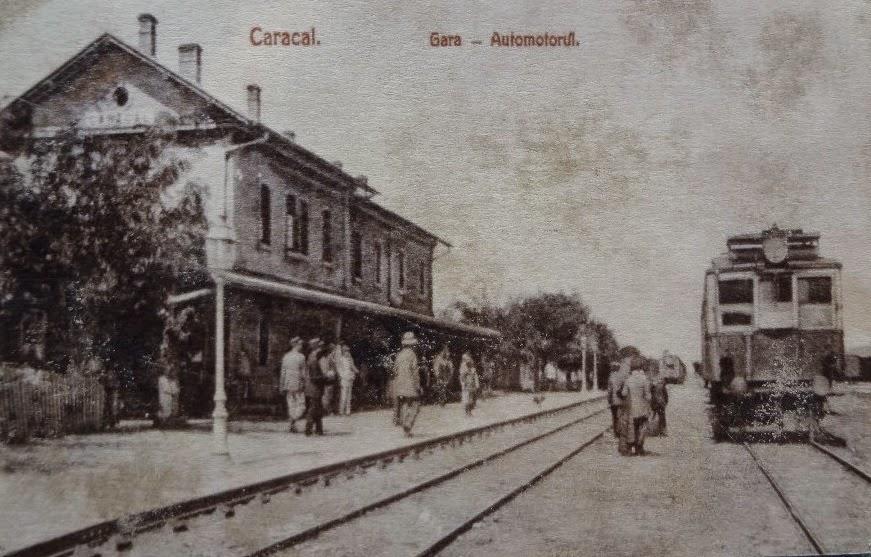 Gara din Caracalul de odinioara
