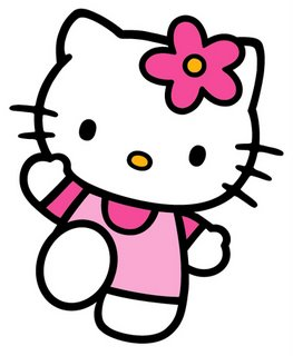 Hello Kitty saludando