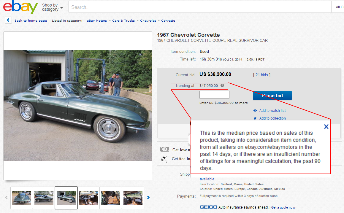 Daily Turismo: eBay Motors Adds Trending-At Value