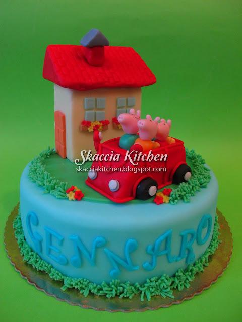 Skaccia kitchen peppa pig cake