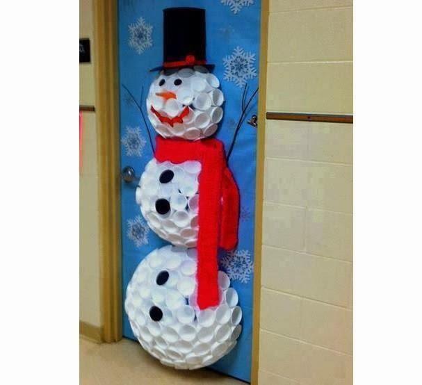 El arte de educar ideas para decorar la puerta del aula for Puertas decoradas santa claus