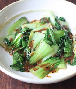 bok choy stir fry recipe with miso dressing