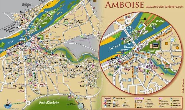 Mapa de Amboise.
