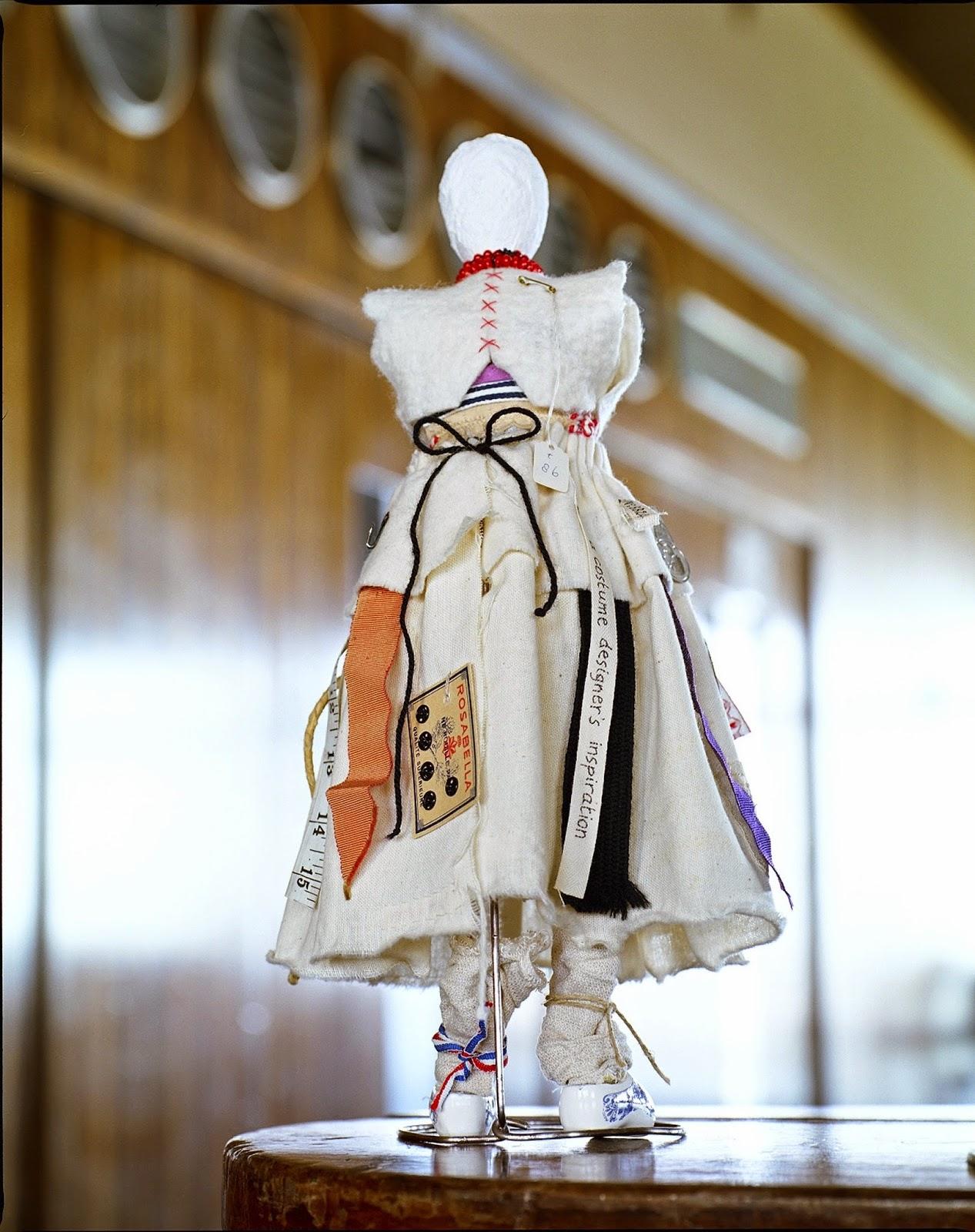 The Dolly © Concrete Collaborations, Concrete Editions, Sally Dyer, De La Warr Pavilion, avant garde dolls, artisan, handmade, national costume, Dutch national costume, clogs, bricolage,