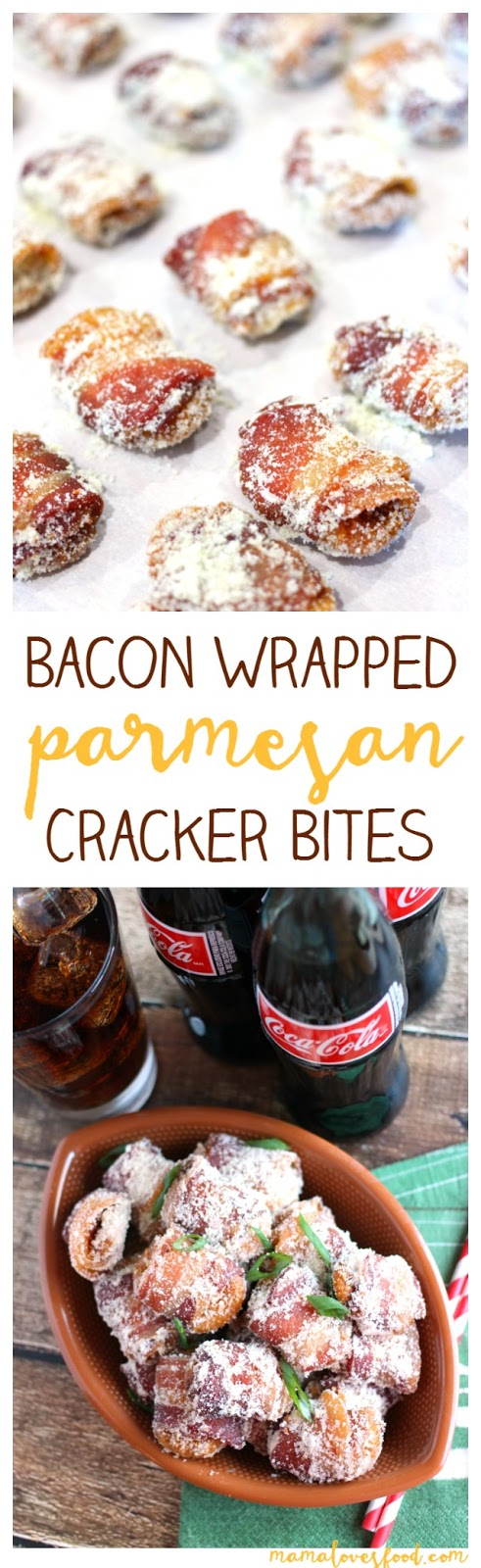 Mama Loves Food!: Bacon Wrapped Parmesan Crackers