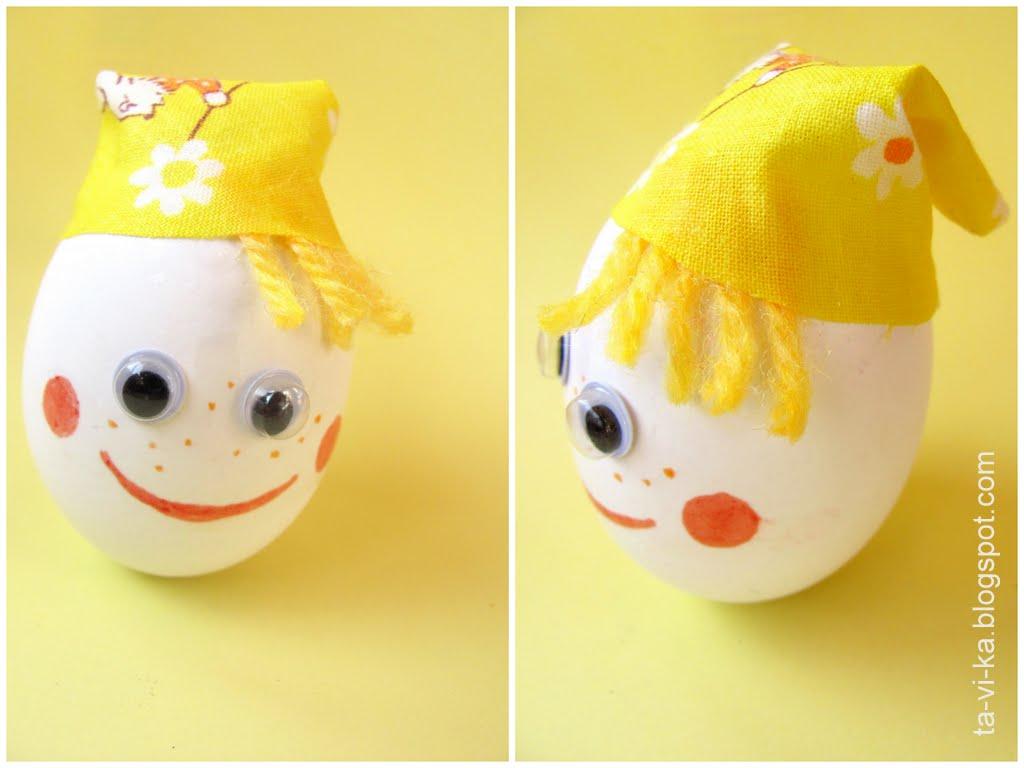 Неваляшка своими руками из яйца