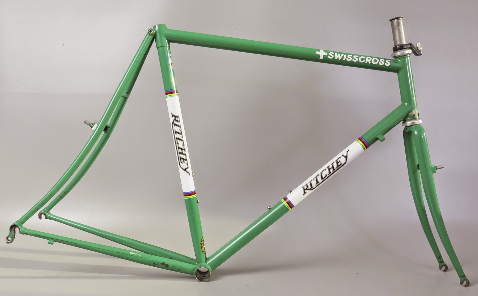 2000 ritchey swisscross 58cm steel cyclocross frame fork english bb green