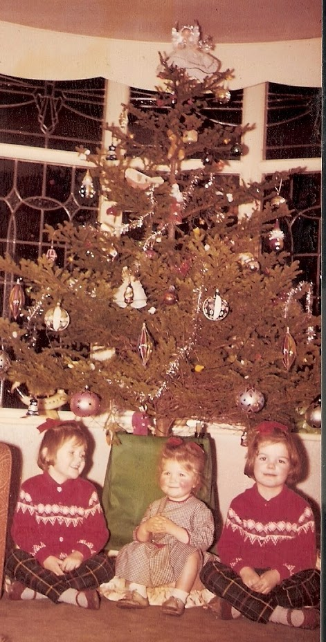 Christmas past. Me on the right