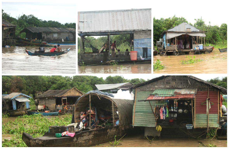 casas flotantes de pescadores