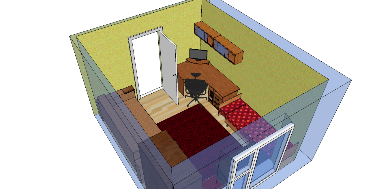 трехмерный план комнаты