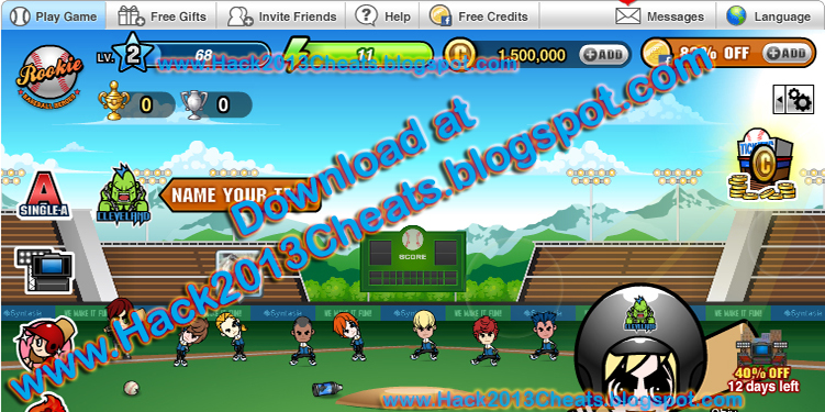 Screenshot of BaseBall Heroes after applying hack