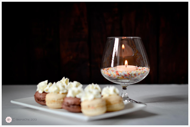 Candle light decoration for a table setting from BistrotChic