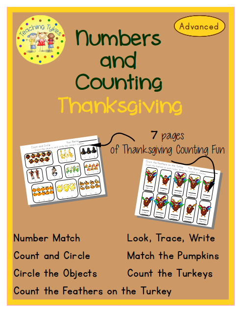 http://www.teacherspayteachers.com/Product/Thanksgiving-Numbers-and-Counting-Advanced-EditionCommon-Core-Aligned-972345