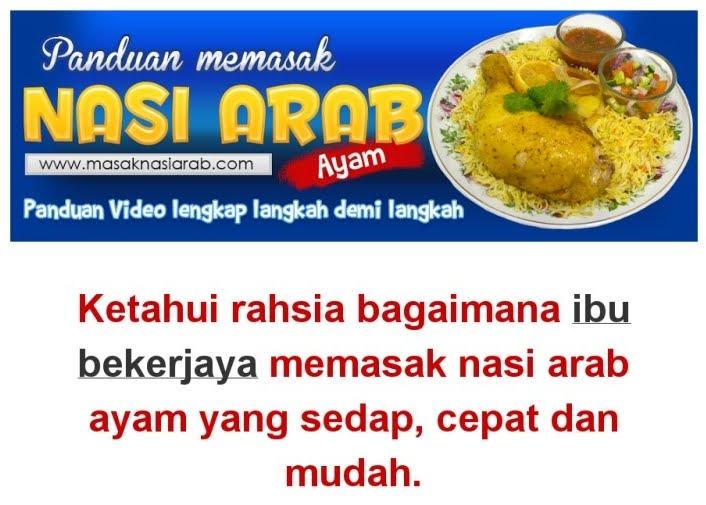 Cara Masak Nasi Arab