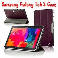 Galaxy Tab 2 Leather Folding Case Cover with Smart Auto Sleep function