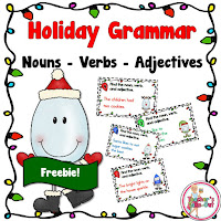 holiday grammar task cards