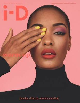 Jourdan Dunn covering one eye Illuminato style