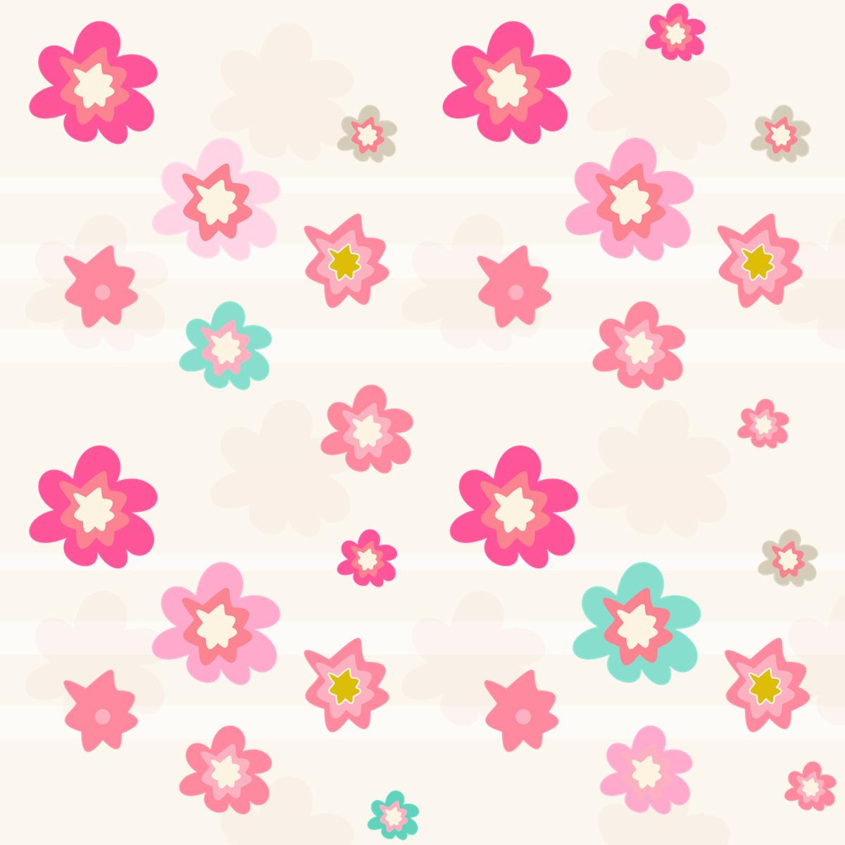 free digital floral scrapbooking paper in pink ausdruckbares geschenkpapier freebie. Black Bedroom Furniture Sets. Home Design Ideas