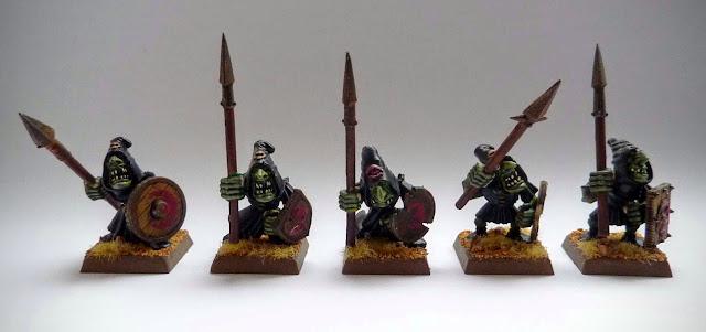 Night Goblin spear unit from Warhammer Fantasy Battle