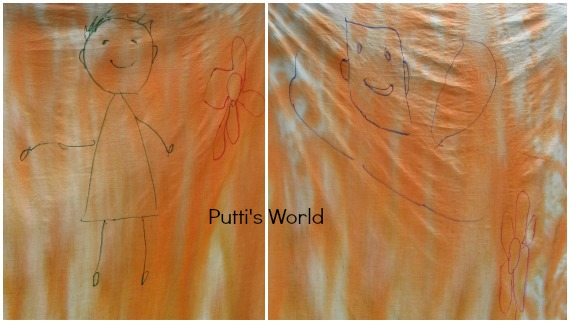 Spray Painting on Fabric