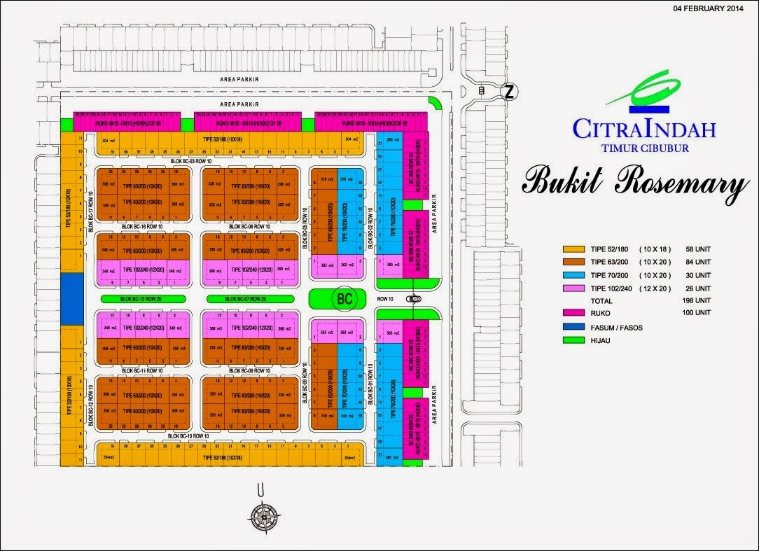 Site Plan Bukit Rosemary Citra Indah