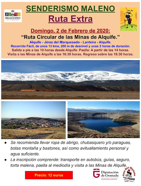 CONVOCATORIA: Ruta Extra del Senderismo Maleno 2019/2020