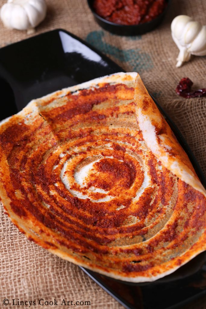 Chilli garlic dosa recipe