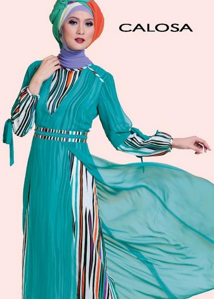 Gambar Baju Gaun Muslim Brokat