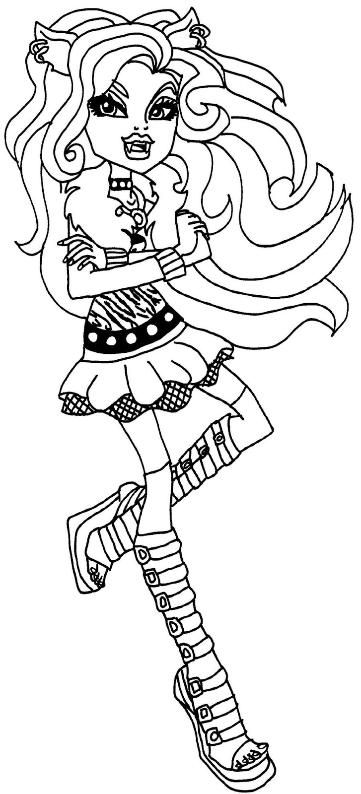 Monster High dibujos para imprimir y colorear: Dibujos Monster High Clawdeen 03