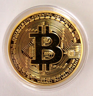 Golden bitcoin physical coins