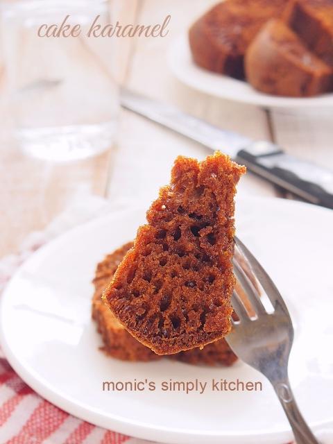 resep cake karamel tanpa mixer