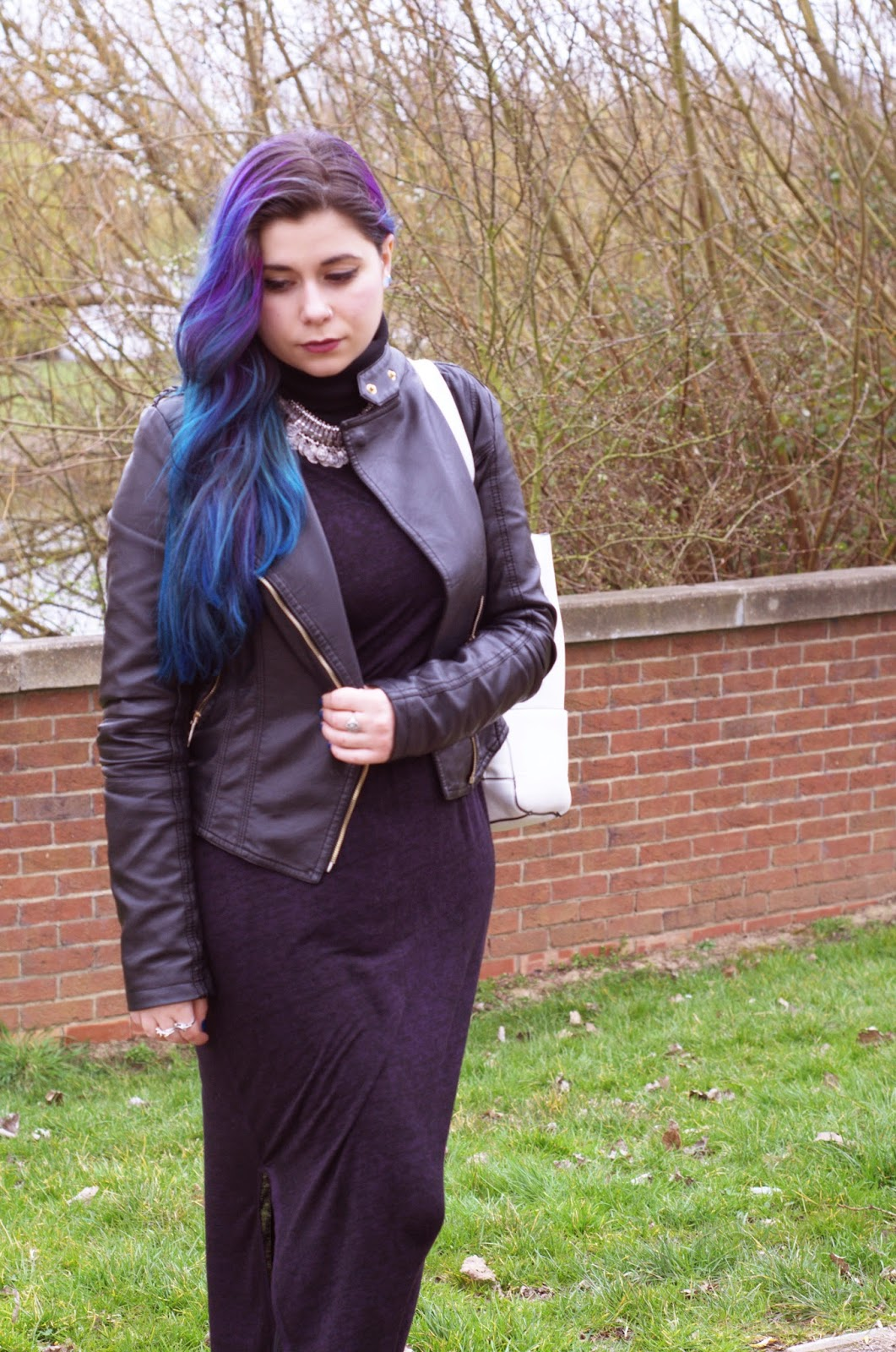 Maxi Dress High Neck Grunge OOTD